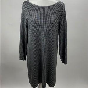 New J Jill Houndstooth Sweater Dress